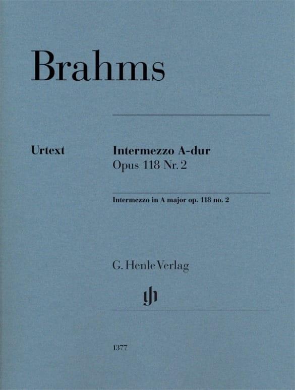 Johannes Brahms - Intermezzo El opus mayor 118-2 - Partition - di-arezzo.es