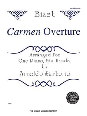 Carmen Ouverture. 6 mains - BIZET - Partition - laflutedepan.com