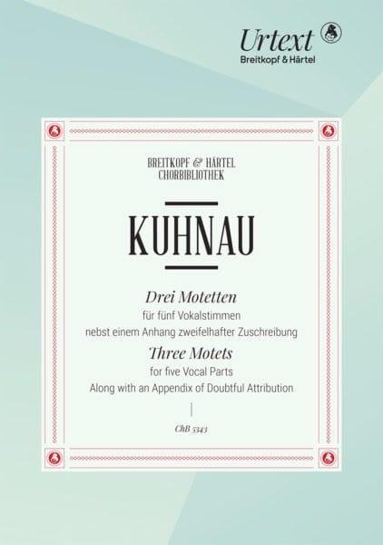 3 Motets - Johann Kuhnau - Partition - Chœur - laflutedepan.com
