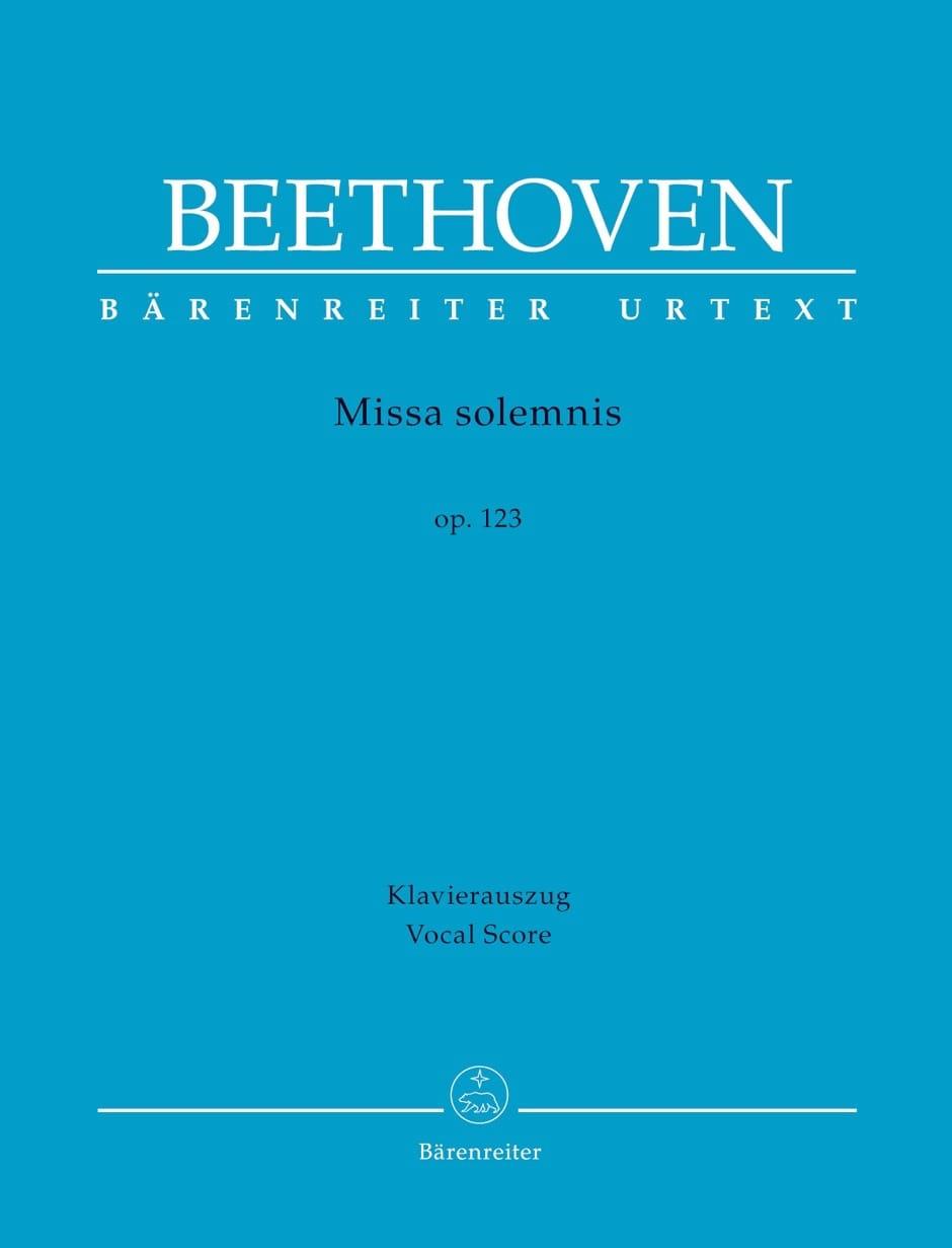 Missa Solemnis Opus 123 - BEETHOVEN - Partition - laflutedepan.com