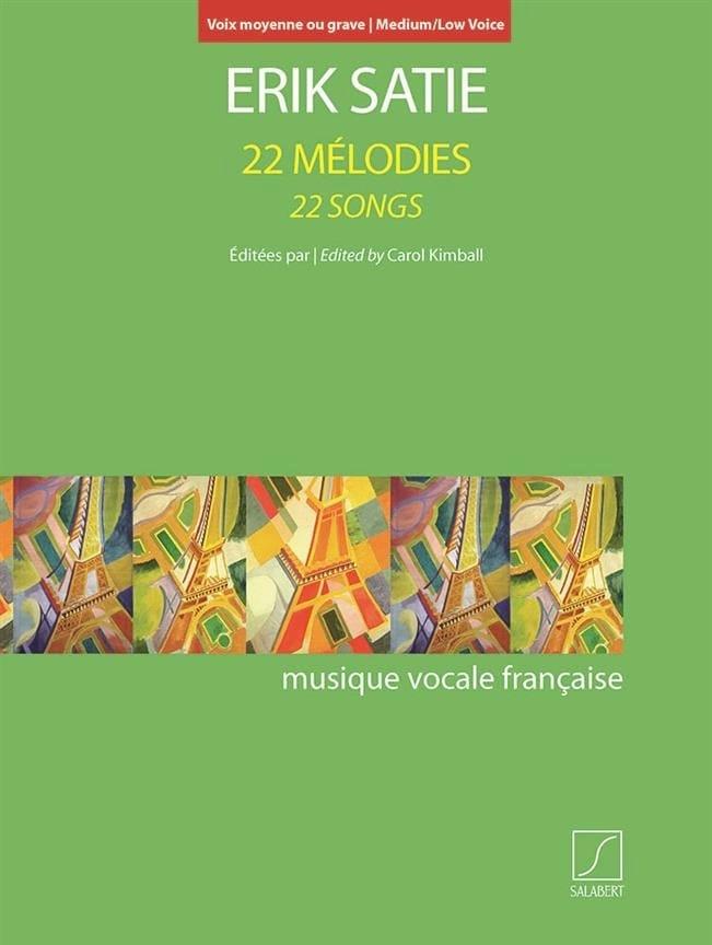 22 Mélodies. Voix Moyenne-Grave - SATIE - Partition - laflutedepan.com