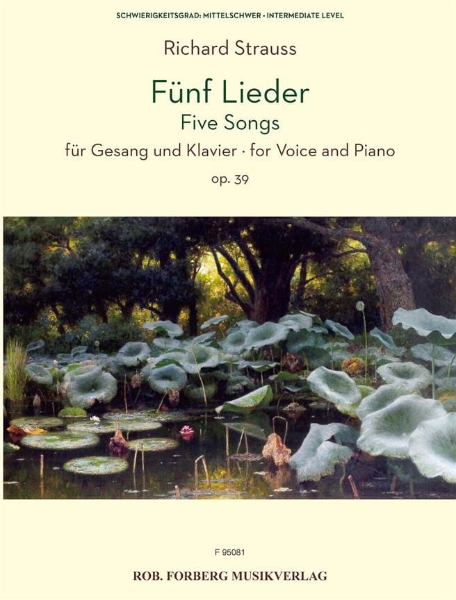 Fünf Lieder Opus 39 - Richard Strauss - Partition - laflutedepan.com