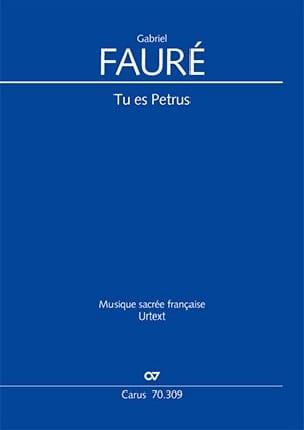 Tu es petrus - FAURE - Partition - Chœur - laflutedepan.com
