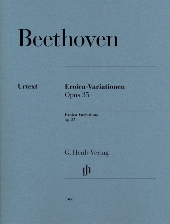 Ludwig van Beethoven - Variations Eroica Opus 35 - Partition - di-arezzo.co.uk