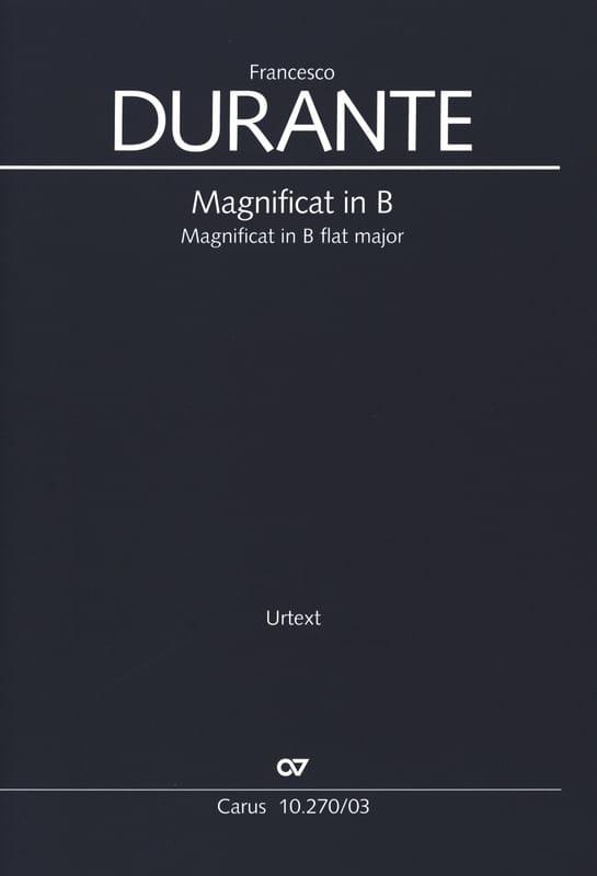 Francesco Durante - Magnificat in B flat - Partition - di-arezzo.co.uk