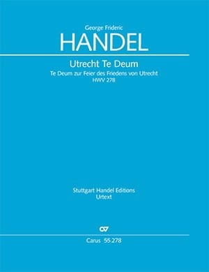 Utrecht Te Deum HWV 278 - HAENDEL - Partition - laflutedepan.com