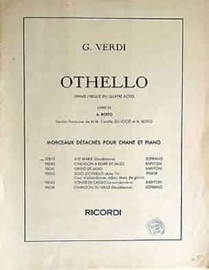 Giuseppe Verdi - The Willow Song. Othello - Partition - di-arezzo.co.uk