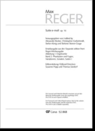 Suite en mi mineur Opus 16 - Max Reger - Partition - laflutedepan.com