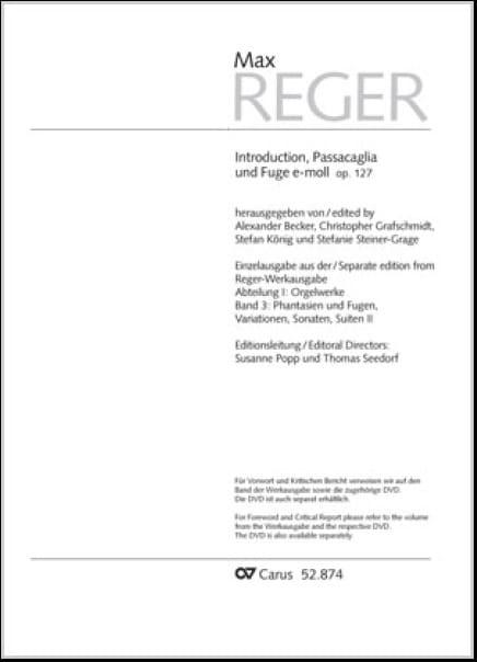 Introduction, Passacaille et Fugue mi mineur Opus 127 - laflutedepan.com