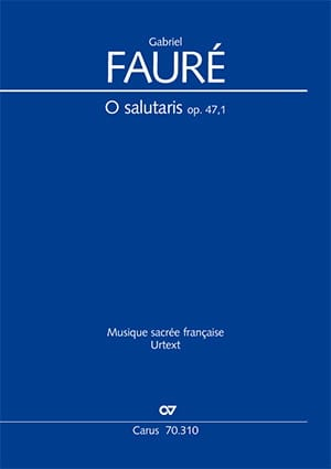 Gabriel Fauré - O Salutaris Opus 47-1 - Partition - di-arezzo.co.uk