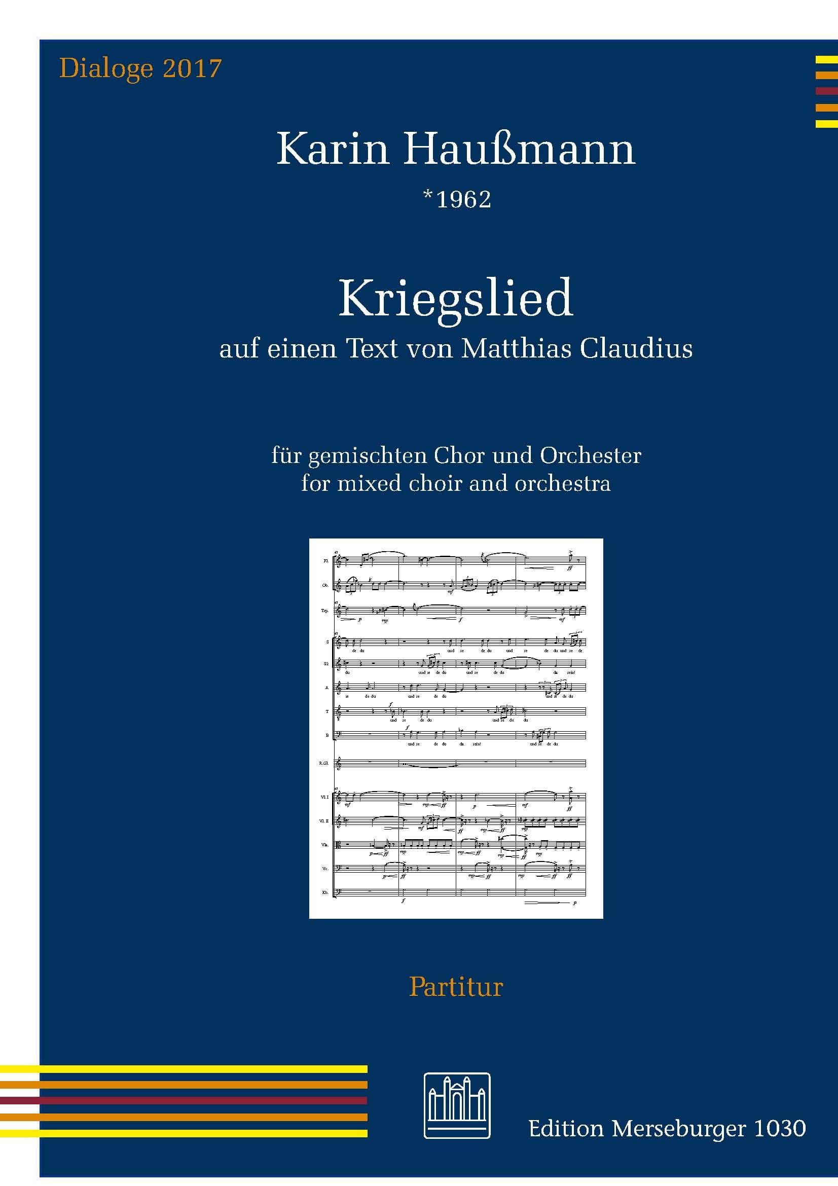 Kriegslied - Karin Haussmann - Partition - Chœur - laflutedepan.com