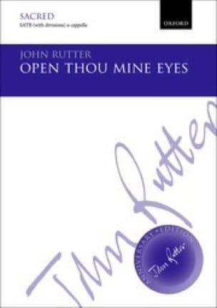 Open Thou Mine Eyes - RUTTER - Partition - Chœur - laflutedepan.com