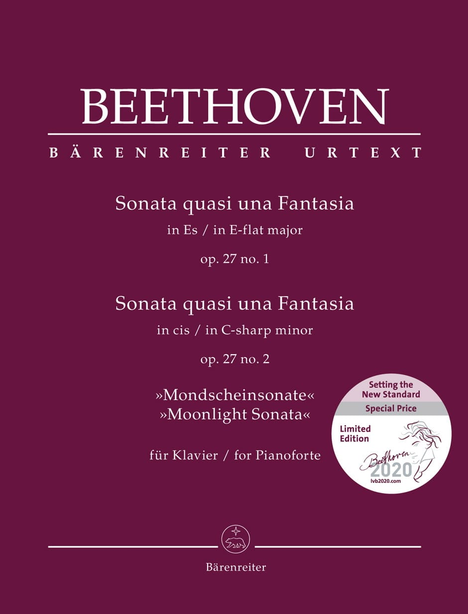 BEETHOVEN - Sonatas 13 and 14 Opus 27 - Partition - di-arezzo.com