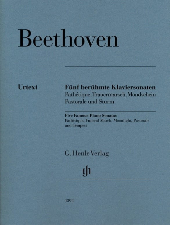 Ludwig van Beethoven - 5 Famous Sonatas for Piano - Partition - di-arezzo.com