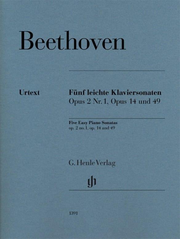 Ludwig van Beethoven - 5 Easy piano sonatas - Partition - di-arezzo.co.uk