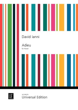 Adieu - David Ianni - Partition - Piano - laflutedepan.com
