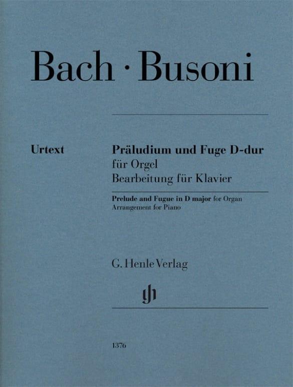 BACH / BUSONI - Prelude and Fugue In D Major BWV 532 - Partition - di-arezzo.com