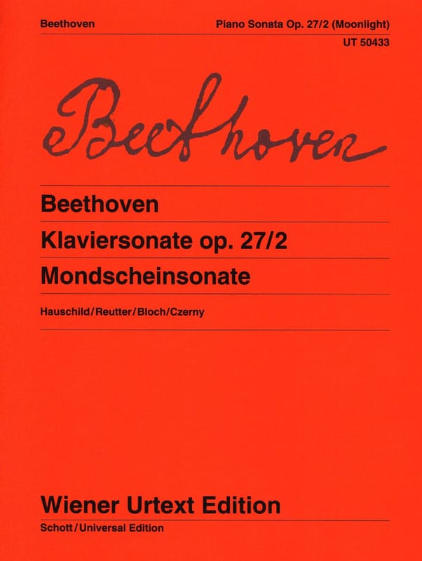 Sonate pour piano n° 14 en ut dièse mineur Opus 27 n° 2 - laflutedepan.com