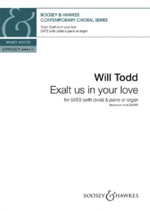 Will Todd - Exalt us in your love - Partition - di-arezzo.fr