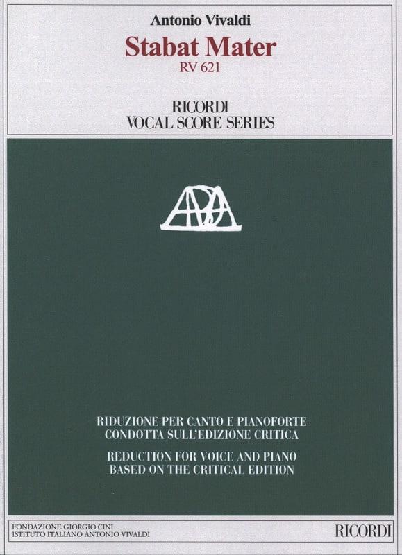 VIVALDI - Stabat Mater - Critical Edition - Partition - di-arezzo.co.uk