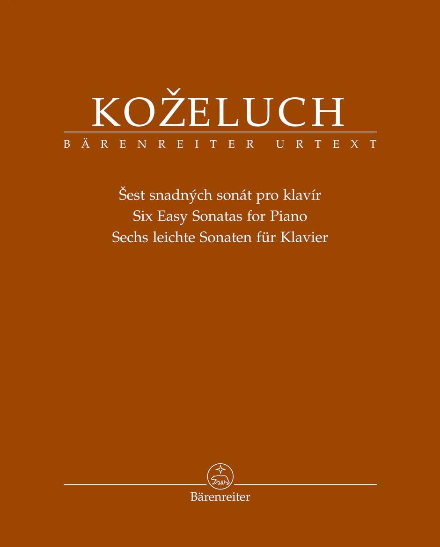 Leopold Antonin Kozeluch - 6 sonatas fáciles - Partition - di-arezzo.es