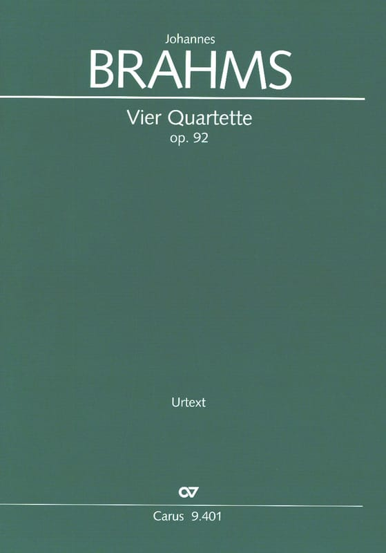 Johannes Brahms - 4 Quartet Opus 92 - Partition - di-arezzo.it