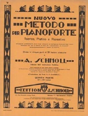 Nouvelle Méthode De Piano Volume 5 - Anton Schmoll - laflutedepan.com