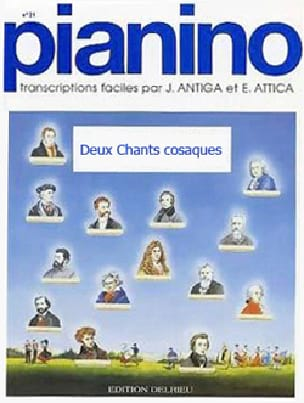 2 Chants Cosaques - Pianino 80 - Partition - laflutedepan.com