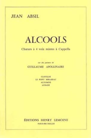 Jean Absil - alcoholes - Partition - di-arezzo.es