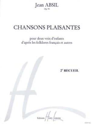 Chansons Plaisantes Opus 94 volume 2 - Jean Absil - laflutedepan.com
