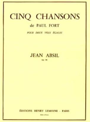 Jean Absil - 5 canciones de P. Fort Opus 18 - Partition - di-arezzo.es
