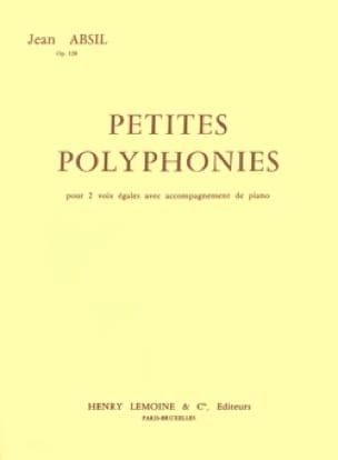 Petites Polyphonies Opus 128 - Jean Absil - laflutedepan.com