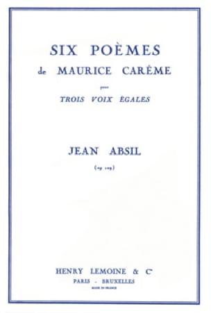Jean Absil - 6 poemas de Maurice Carême Opus 109 - Partition - di-arezzo.es