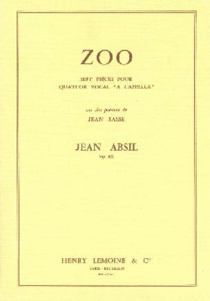 Zoo Opus 63 - Jean Absil - Partition - Chœur - laflutedepan.com