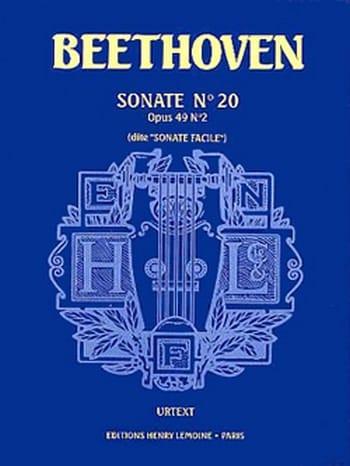 Sonate N° 20 Dite Facile Opus 49-2 - BEETHOVEN - laflutedepan.com