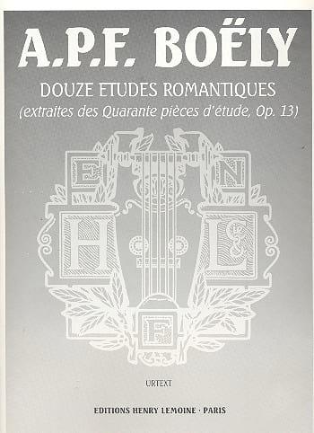 12 Etudes Romantiques Opus 13 - laflutedepan.com