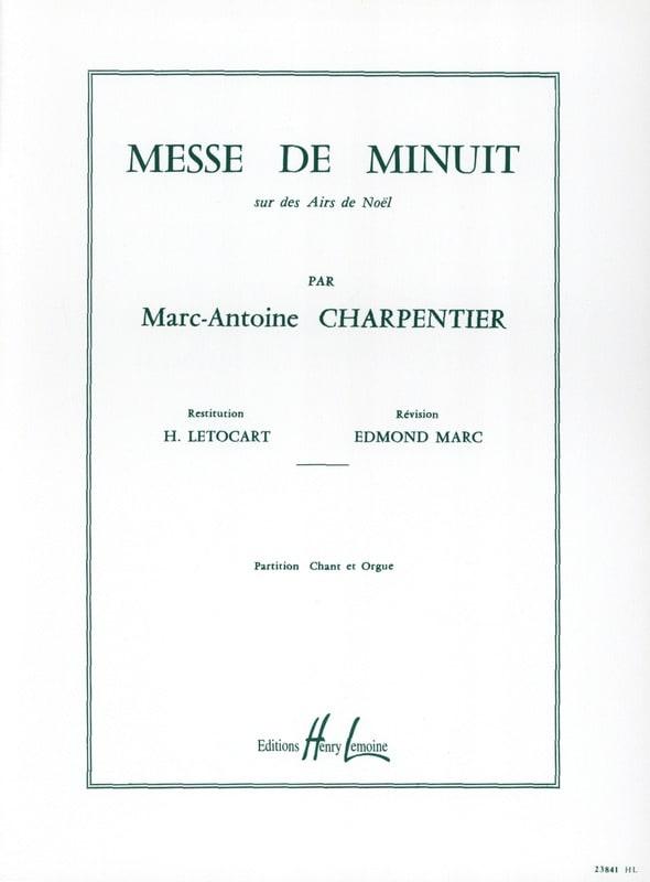 Marc-Antoine Charpentier - Midnight Mass H 9 - Partition - di-arezzo.co.uk