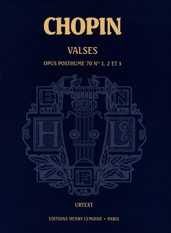 3 Valses Opus 70 Posthumes - CHOPIN - Partition - laflutedepan.com