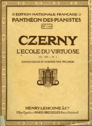 Ecole Du Virtuose, Opus 365 N°1 - CZERNY - laflutedepan.com