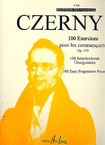 CZERNY - 100 Exercises For Beginners Opus 139 - Partition - di-arezzo.co.uk