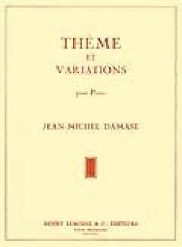 Jean-Michel Damase - Theme and Variations - Partition - di-arezzo.co.uk