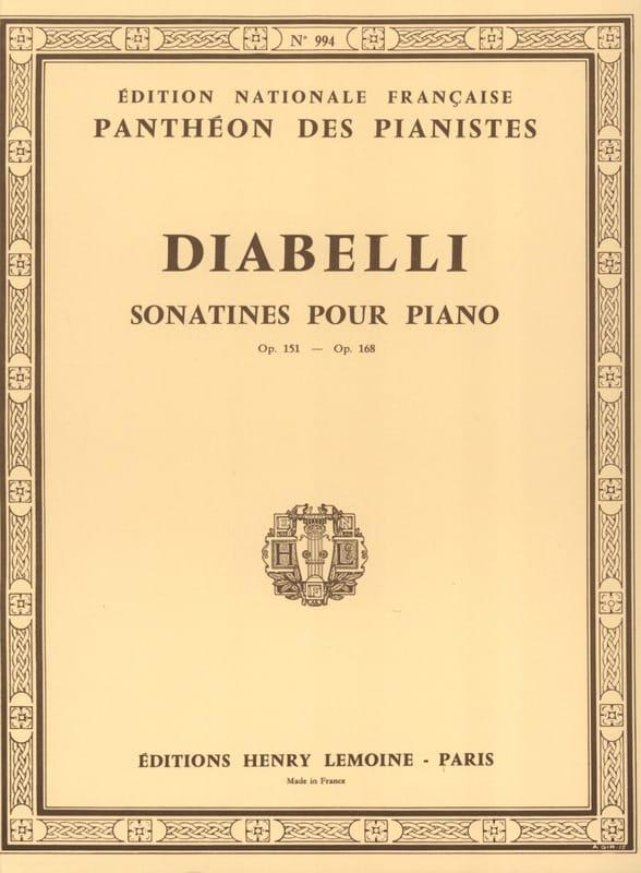 Sonatines Opus 151 et 168 - DIABELLI - Partition - laflutedepan.com