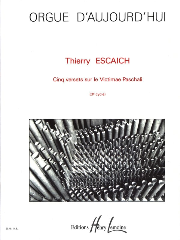Thierry Escaich - 5 Verses About Victimae Paschali - Partition - di-arezzo.co.uk