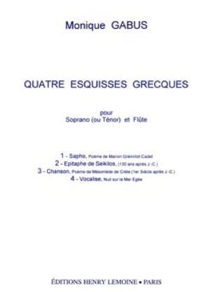 4 Esquisses Grecques - Monique Gabus - Partition - laflutedepan.com