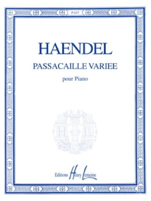 HAENDEL - Passacaille Varied - Partition - di-arezzo.co.uk