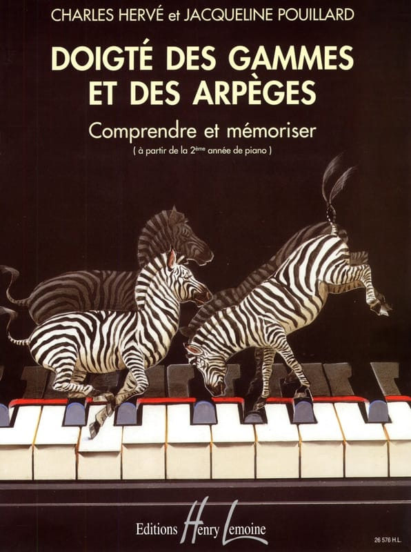 HERVÉ - POUILLARD - Fingering of Ranges and Arpeggios - Partition - di-arezzo.co.uk