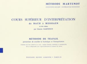 Cours Supérieur d'interprétation - Ginette Martenot - laflutedepan.com