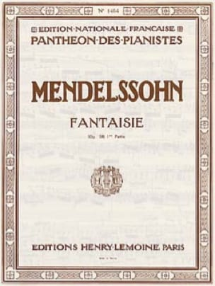 MENDELSSOHN - Fantasy Opus 28. Part 1 - Partition - di-arezzo.co.uk