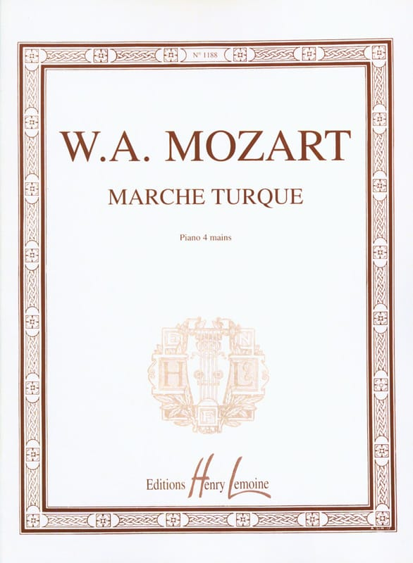 MOZART - Turkish march. 4 Hands - Partition - di-arezzo.co.uk