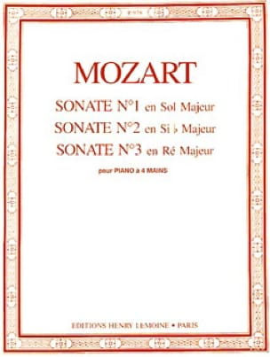 MOZART - Sonatas A 4 Hands N ° 1 A 3 - Partition - di-arezzo.co.uk